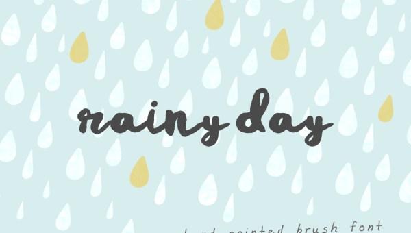 Rainy Day Brush Font Free