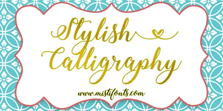 Stylish Calligraphy Font Free - Dafont Free