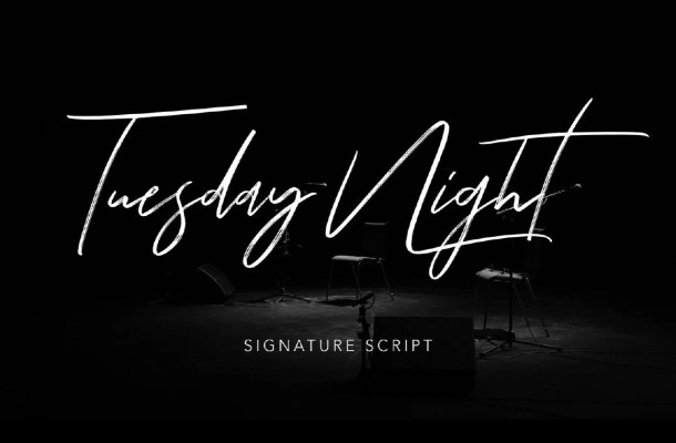 Tuesday Night Font Free