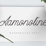 Aamonoline Script Font Free