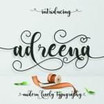 Adreena Script Font Free