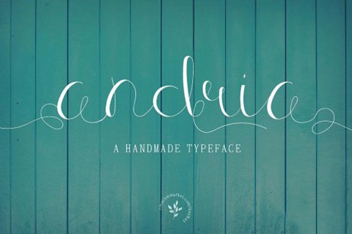 andria-handmade-font