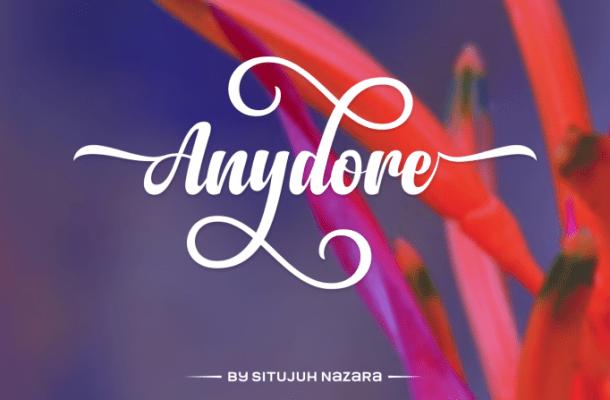 Anydore Script Font Free