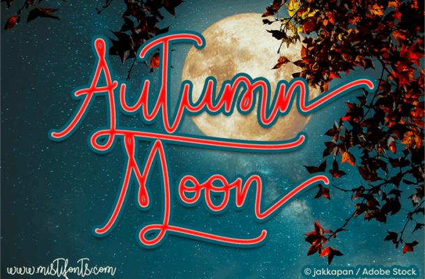 Autumn Moon Script Font Free