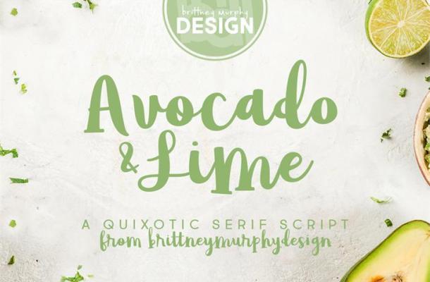 Avocado & Lime Script Font Free