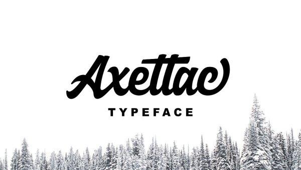 Axettac Script Font Free