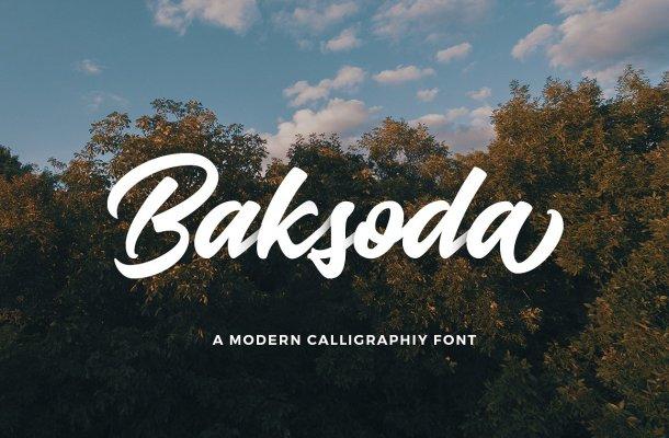 Baksoda Script Font Free
