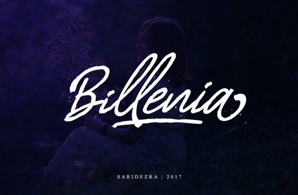 Billenia Script Font Free