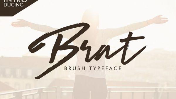 Brat Brush Typeface Free