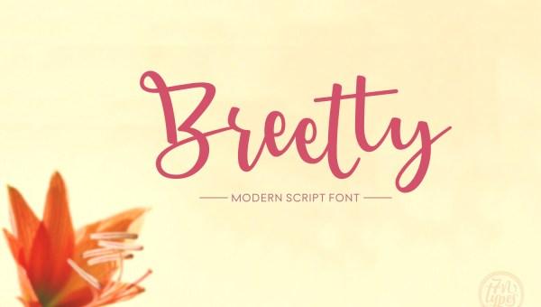 Breetty Script Font Free