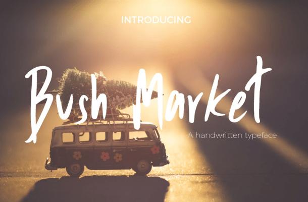 Bush Market Script Font Free
