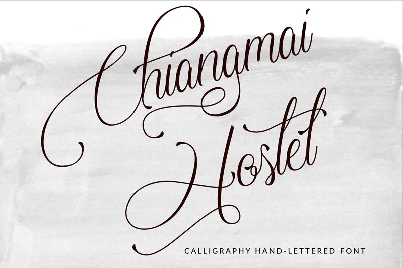chiangmai-hostel-script-font