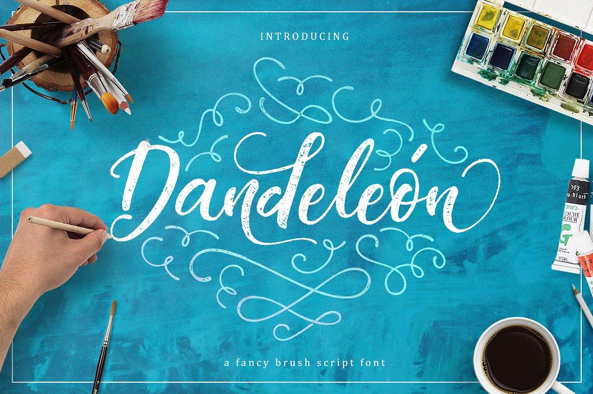 Dandeleon Brush Script Font Free - Dafont Free