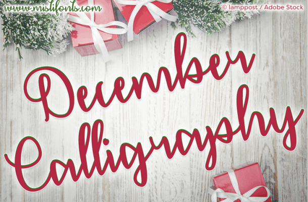 December Calligraphy Font Free