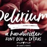 Delirium Brush Font Free