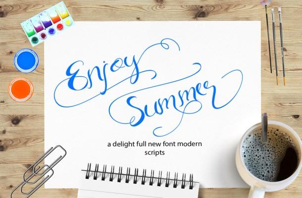 Enjoy Summer Script Font Free