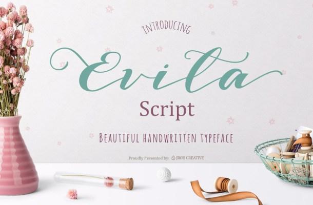 Evita Script Font Free