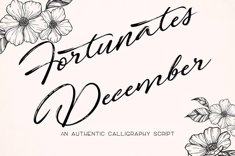 fortunates-december-font