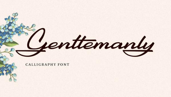 Gentlemanly Script Font Free