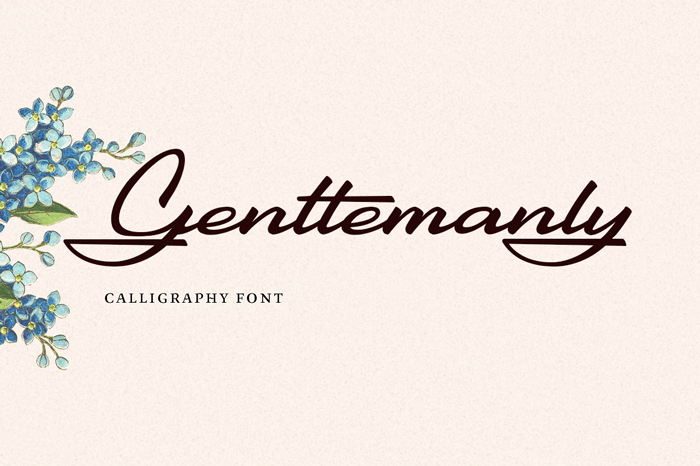 gentlemanly-script-font