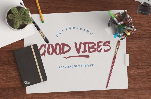 Good Vibes Brush Font Free