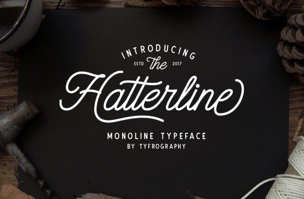 Hatterline Script + Sans Font Free