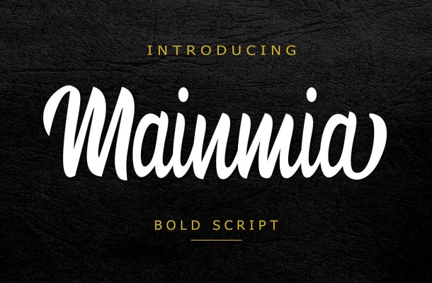 Mainmia Script Font Free