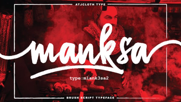 Manksa Brush Font Free