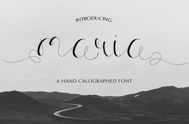 Maria Calligraphy Font Free