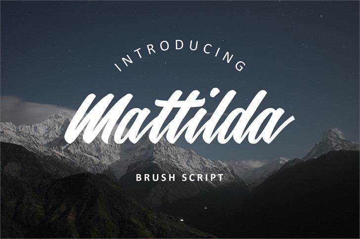 mattilda-script-font