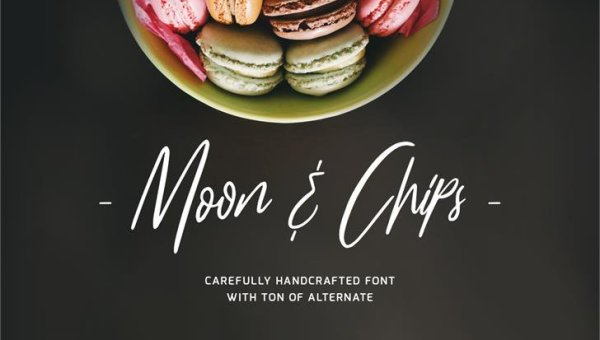 Moon & Chips Script Font Free