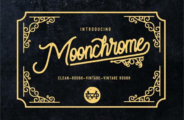 Moonchrome Font Free