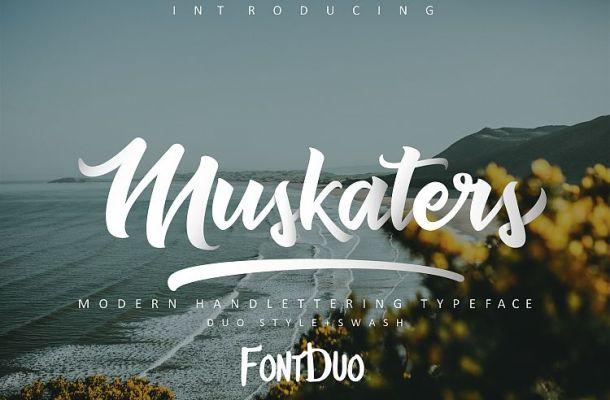 Muskaters Script Font Free
