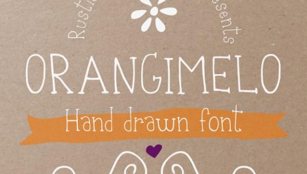 Orangimelo Hand Drawn Font Free