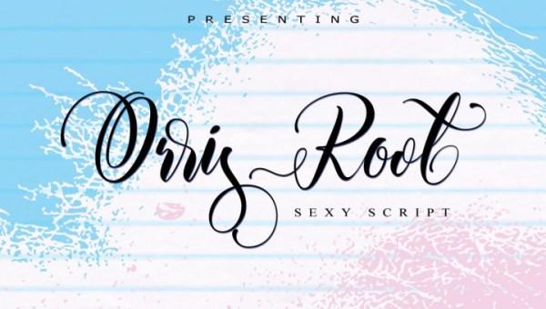 Orris Root Script Font Free