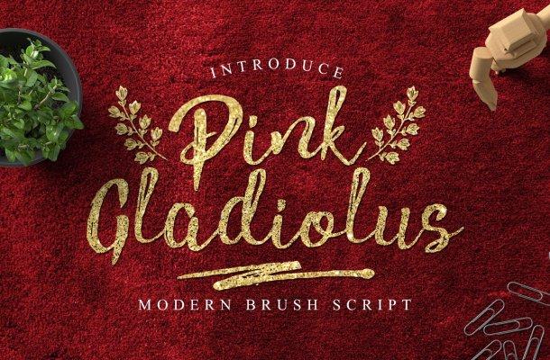 Pink Gladiolus Font Free