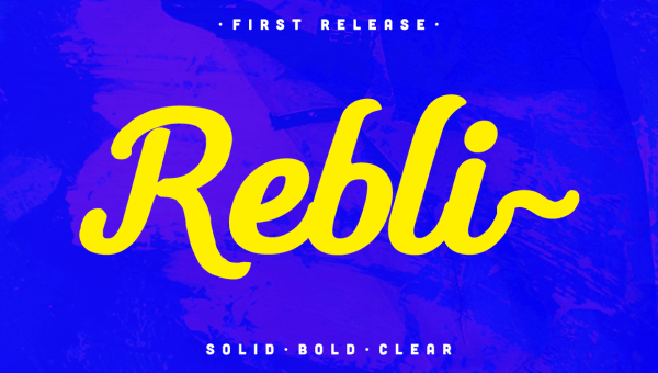 Rebli Script Font Free