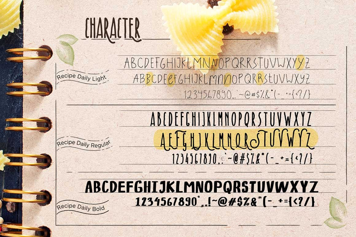 recipe-daily-typeface-1