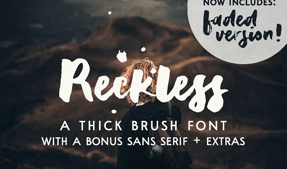 Reckless Brush Font Free