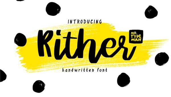 Rither Script Font Free
