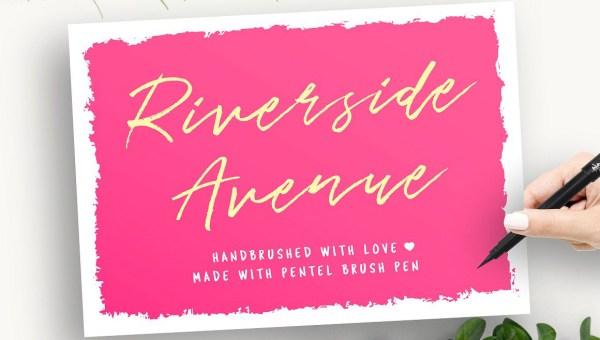Riverside Avenue Script Font Free