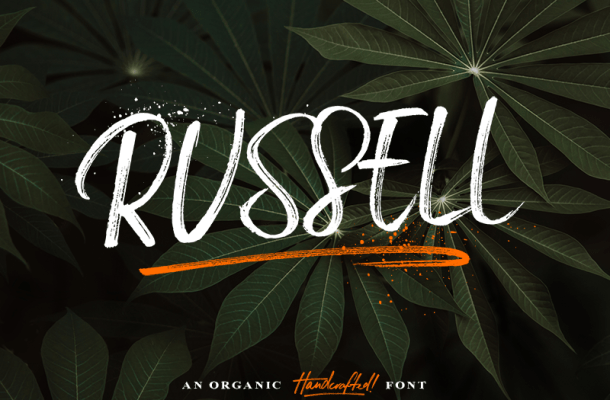 Russell Brush Font Free
