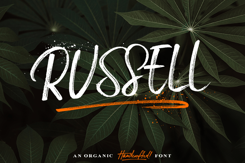 russell-brush-font