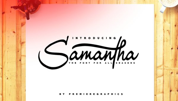 Samantha Script Font Free