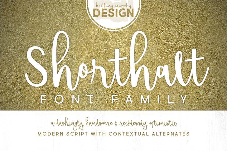 shorthalt-script-font