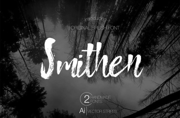 Smithen Brush Font Free