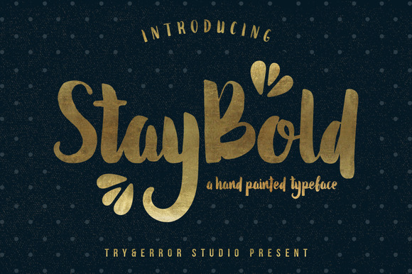 Stay Bold Typeface Free