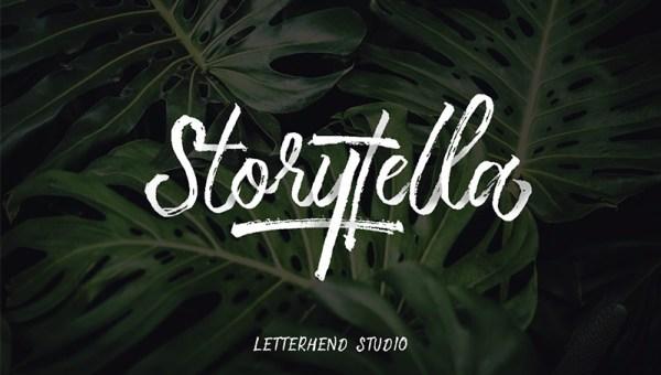 Storytella Brush Font Free