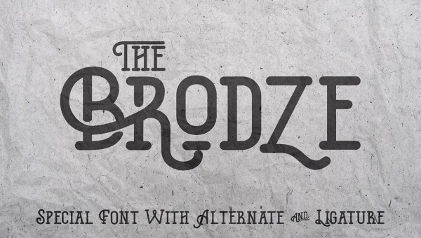 The Brodze Font Free