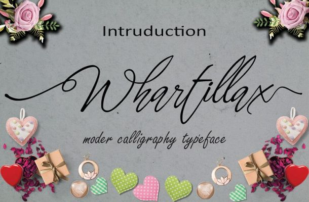 Whartillax Calligraphy Font Free